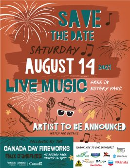 Save The Date August Concert